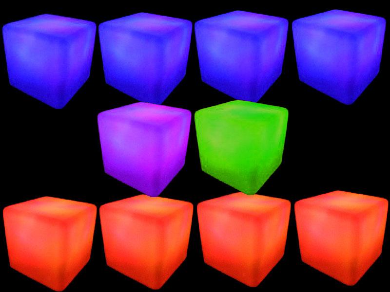 10 glow cubes