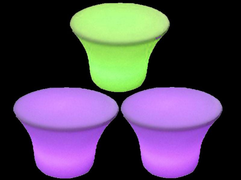 3 glow small mushroom table