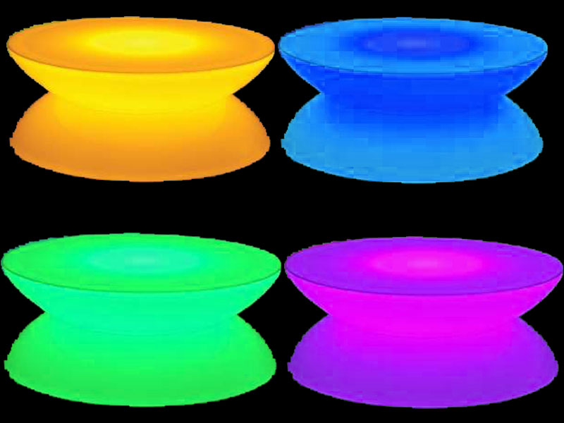 4 glow cafe tables