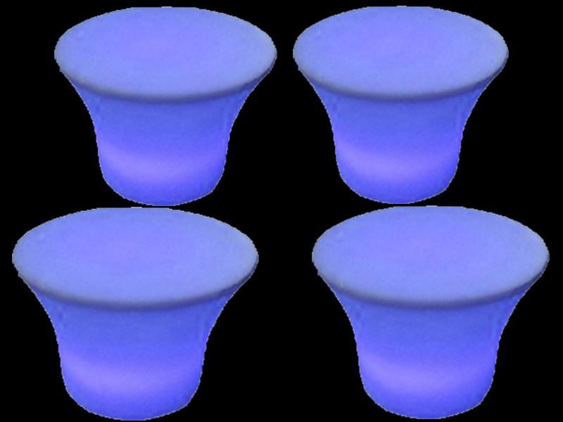 4 glow small mushroom table