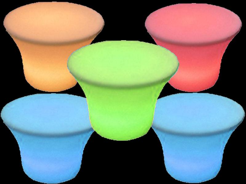 5 glow small mushroom table