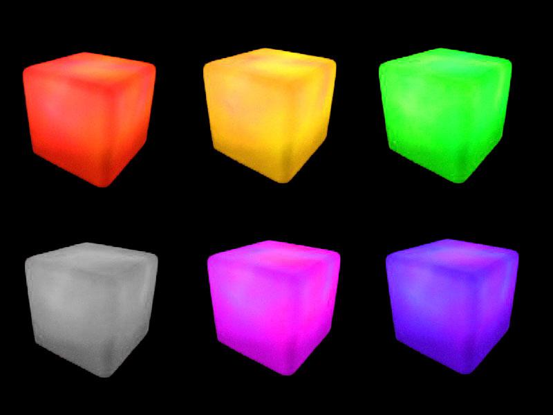 6 glow cubes