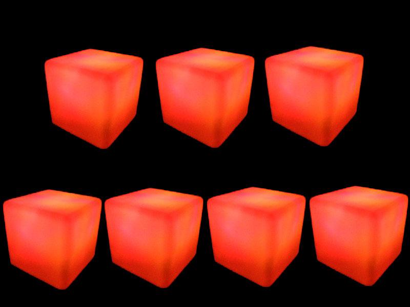 7 glow cubes