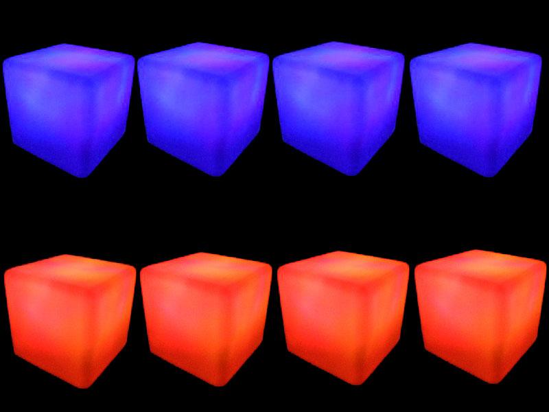 8 glow cubes