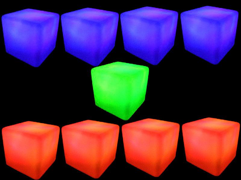 9 glow cubes