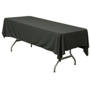 Black Trestle Table Linen