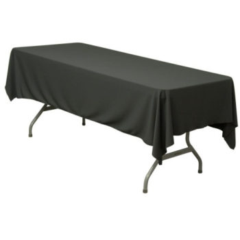 Black Trestle Table Linen