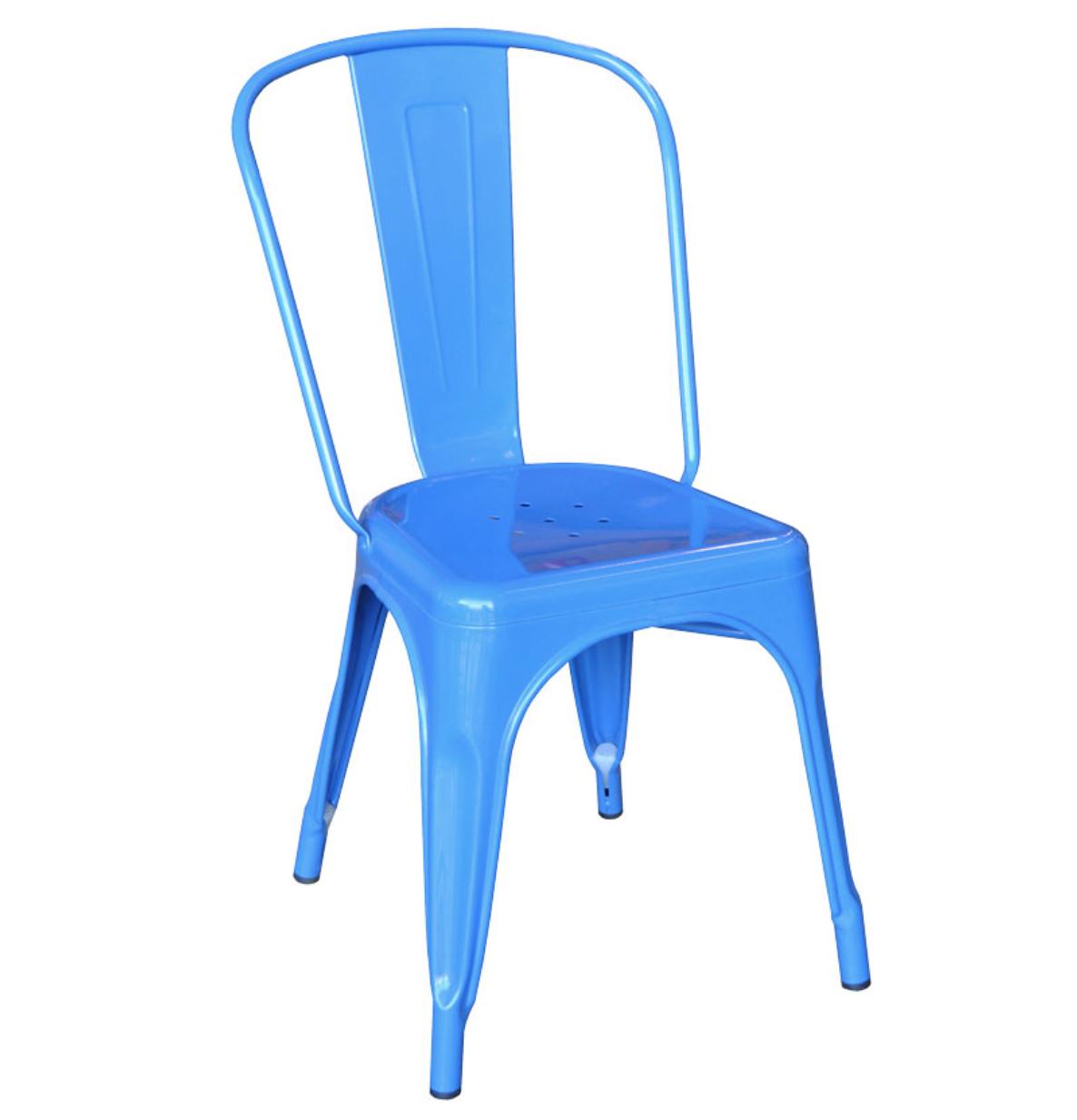 Blue tolix chair