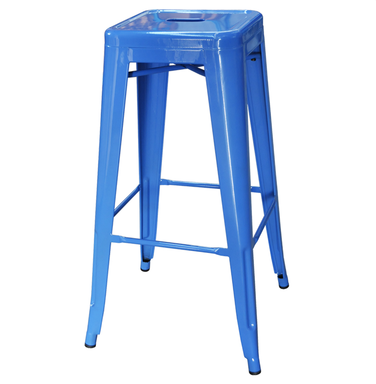 Blue tolix stool