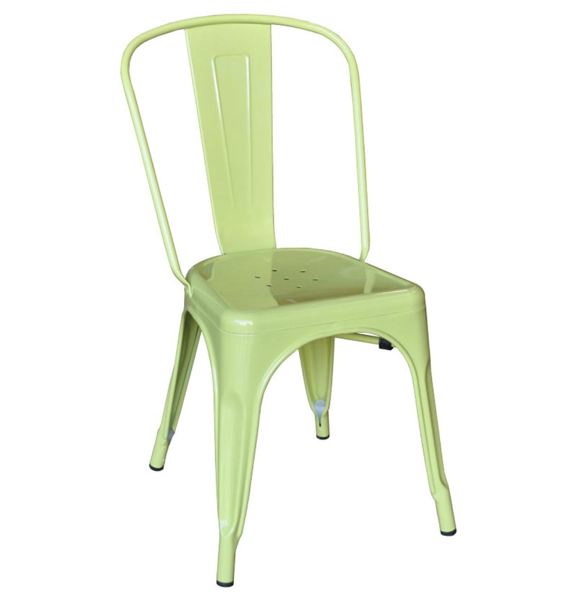 Green tolix chair