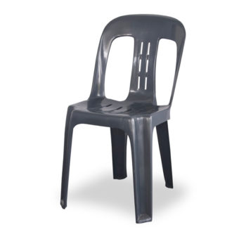 Grey Plastic Stackable Chair