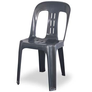 Grey plastic chair