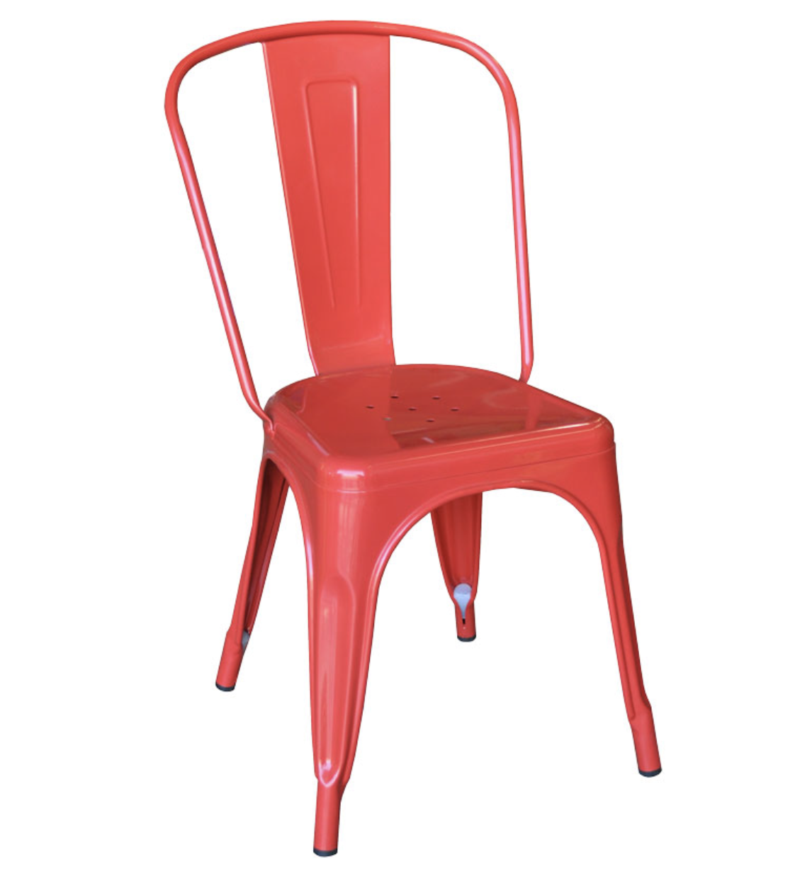 Red tolix chair