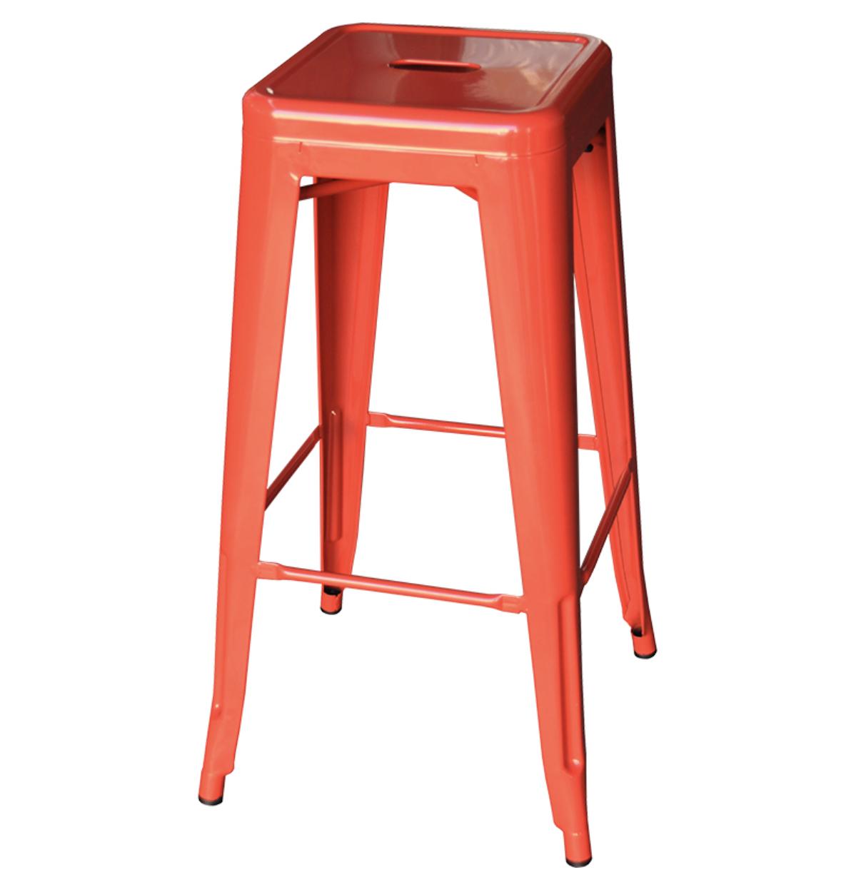 Red tolix stool