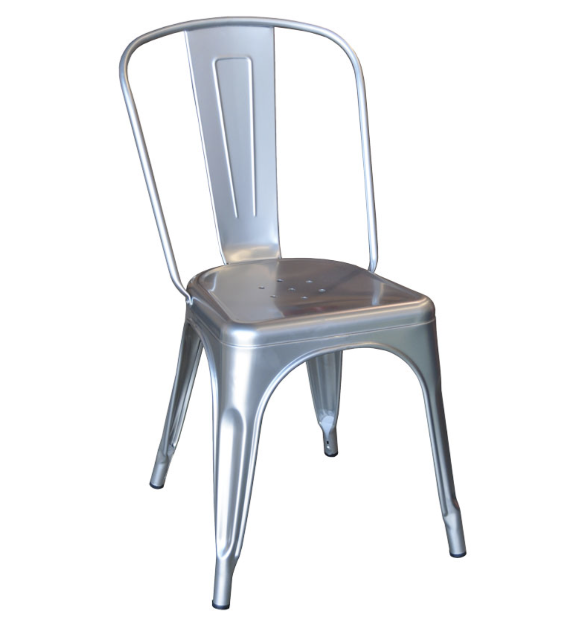 Silver metal tolix chair