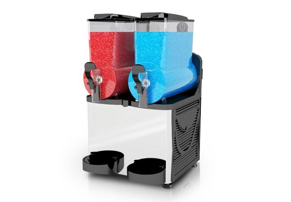 Twin bowl slushie machine