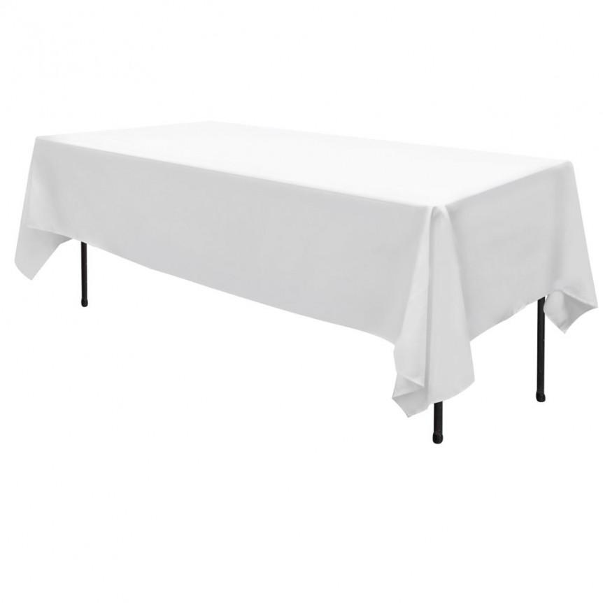 White Trestle Table Linen