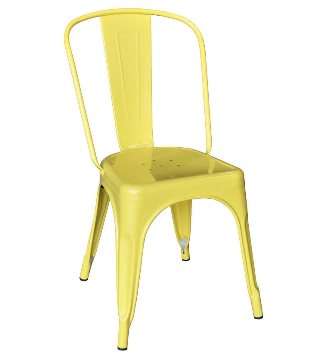 Yellow tolix chair