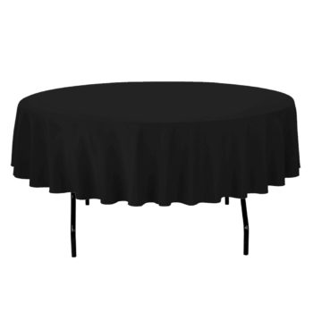 Black Round Table Linen
