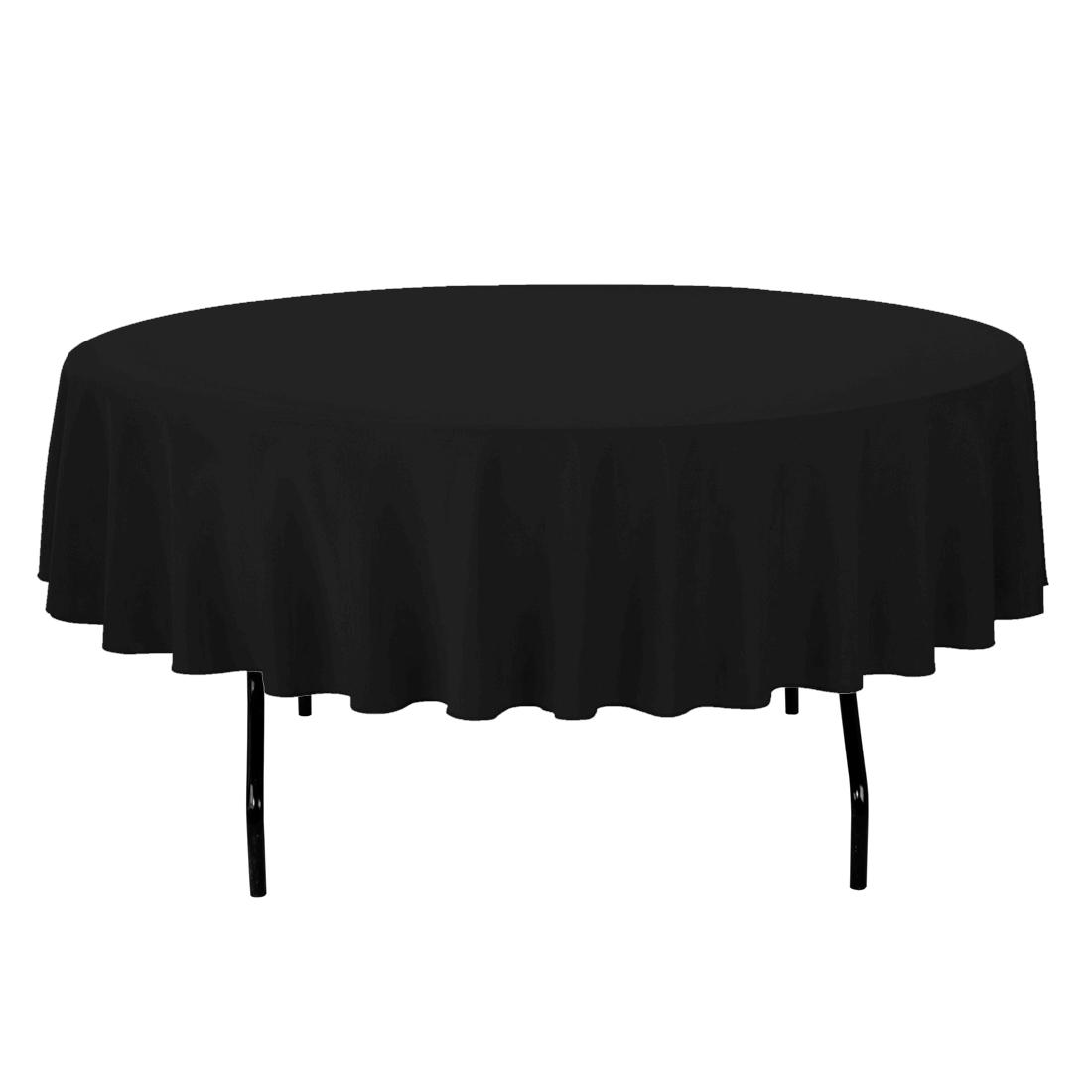 Black Round Table Linen