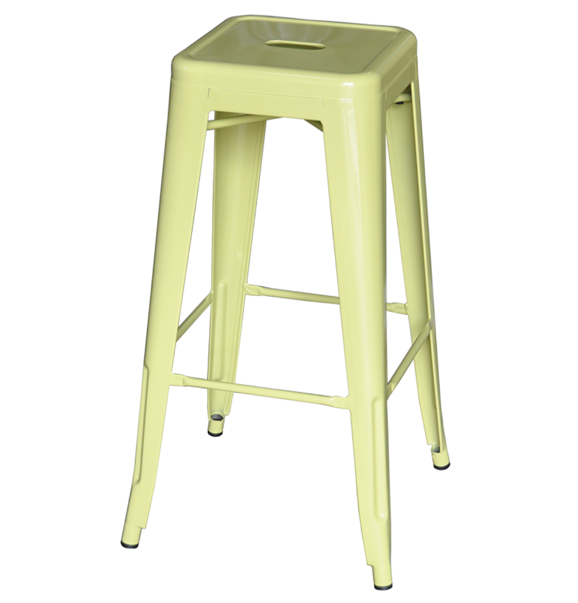 lime green tolix stool