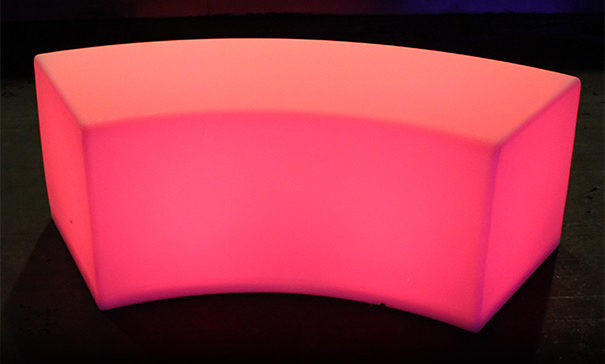 one glow curved bench