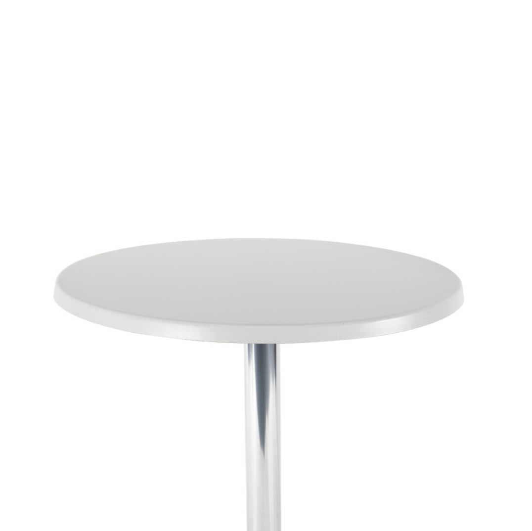 white top cocktail bar table
