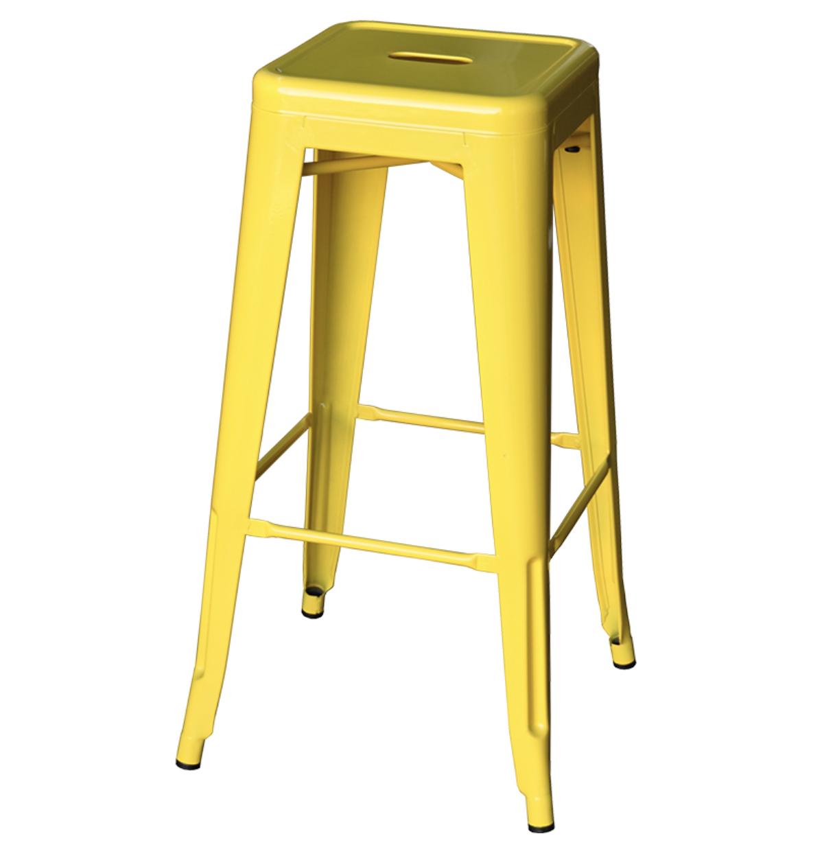yellow tolix stool