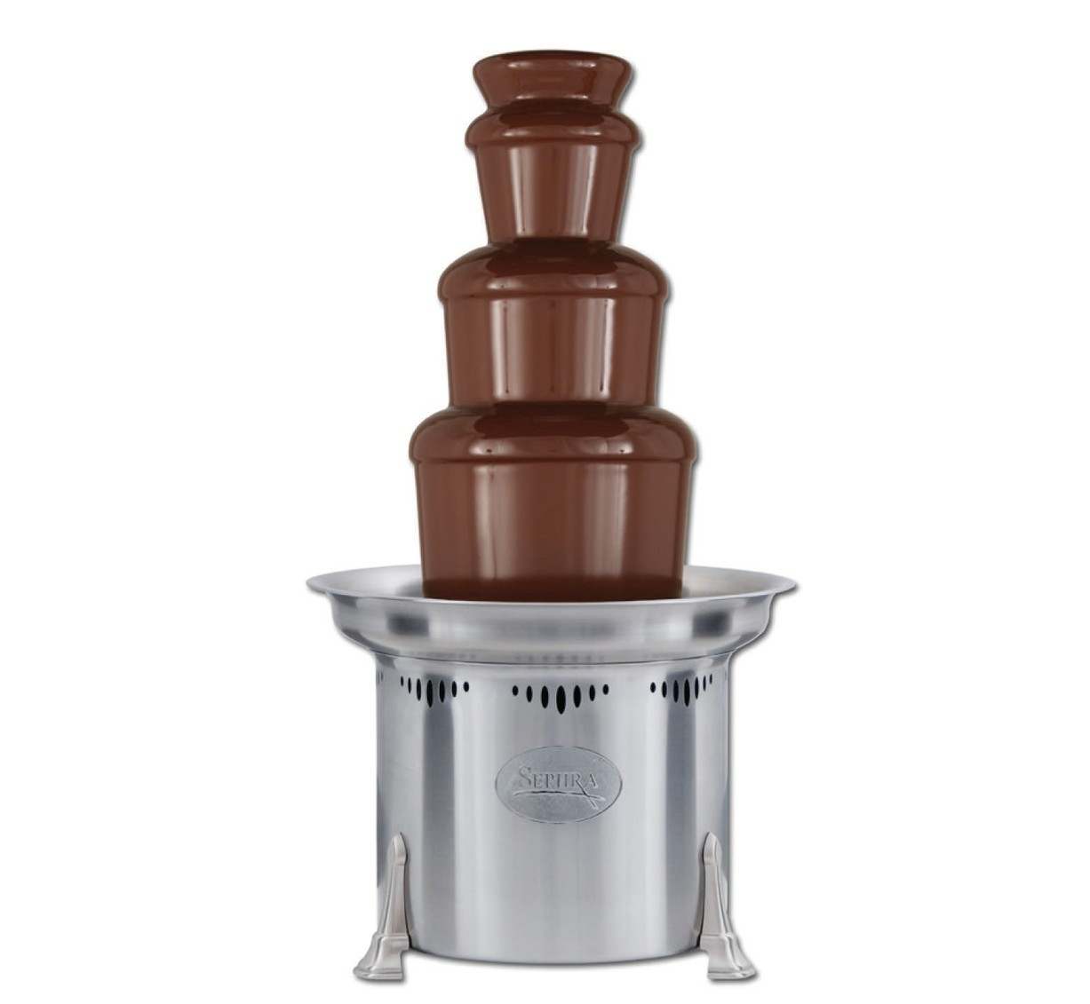 small commercial chocolate fountain